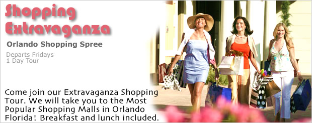 Orlando Shopping Tour for the best shopping in Orlando Florida US.